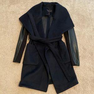 BCBG Maxazria Wool Blend Coat Wrap Coat